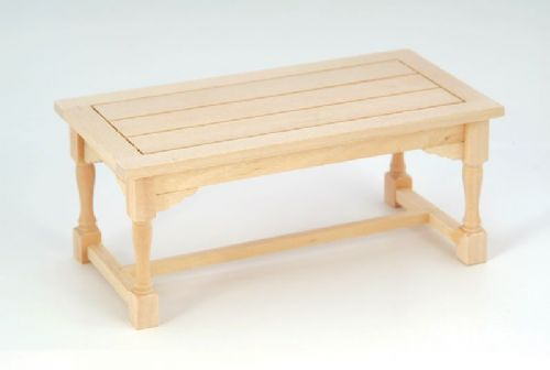 Barewood Dolls House Furniture Bare Essentials 1:12 BEF002 Refectory Table